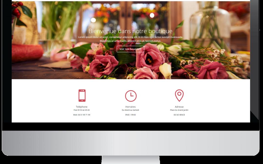 Site internet fleuriste