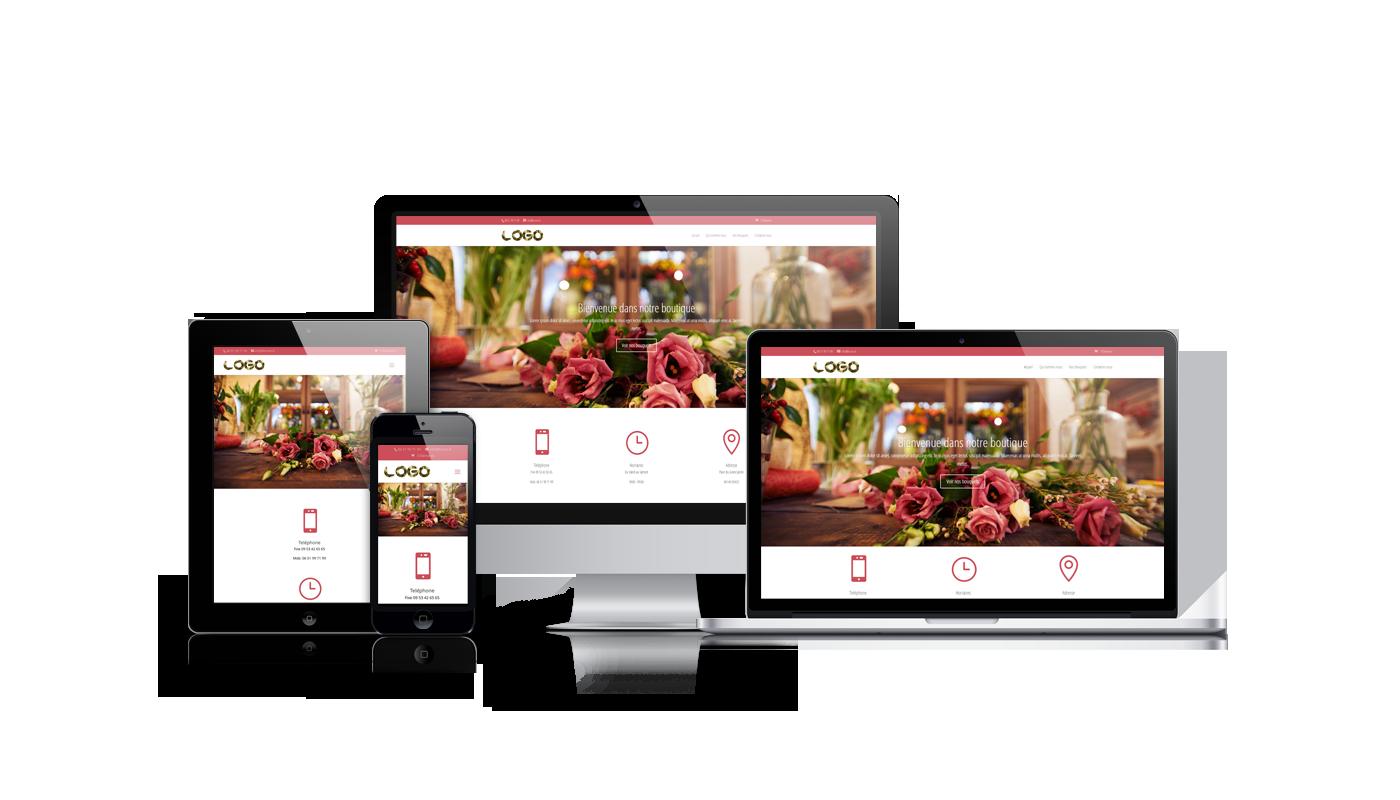 Site internet fleuriste pointweb for Site fleuriste