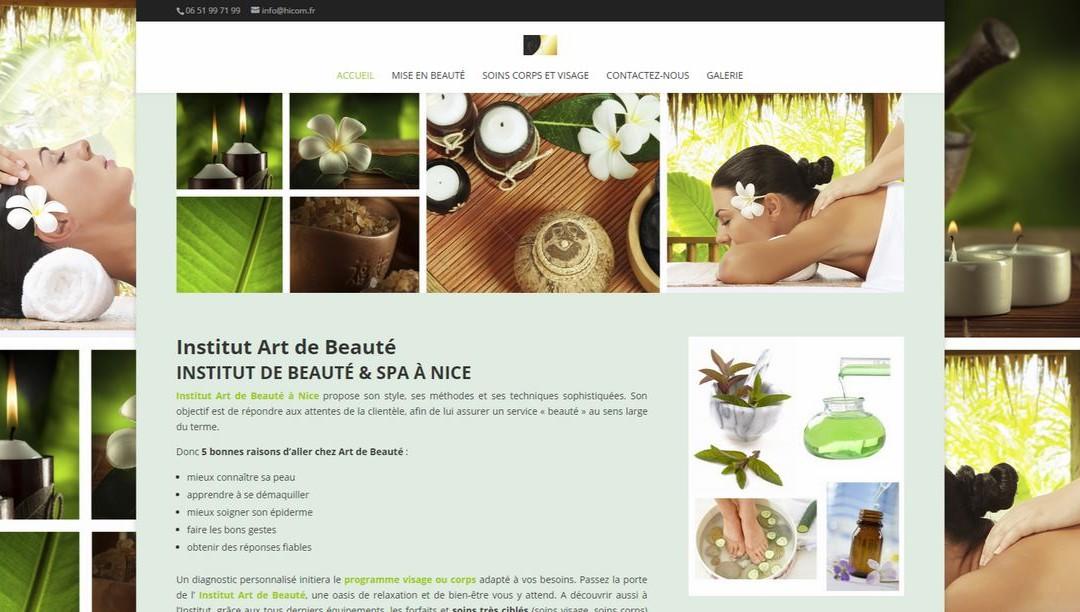 Site art de beauté